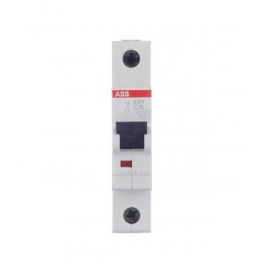 Автомат ABB S201 (2CDS251001R0164) 1P 16 А тип C 6 кА 230 В на DIN-рейку