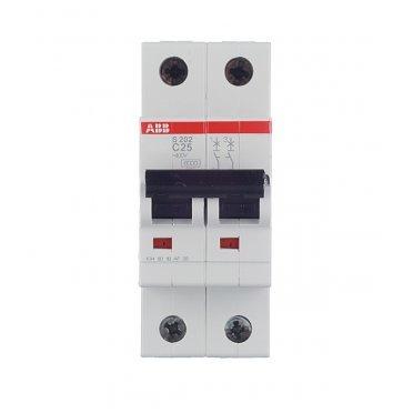 Автомат ABB S202 (2CDS252001R0254) 2P 25 А тип C 6 кА 400 В на DIN-рейку