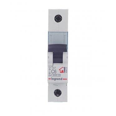 Автомат Legrand TX3 (404025) 1P 6 А тип C 6 кА 230-400 В на DIN-рейку