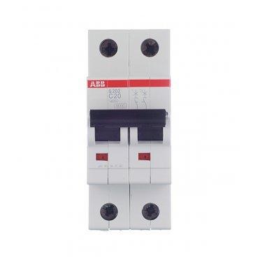 Автомат ABB S202 (2CDS252001R0204) 2P 20 А тип C 6 кА 400 В на DIN-рейку