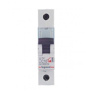 Автомат Legrand TX3 (404026) 1P 10 А тип C 6 кА 230-400 В на DIN-рейку