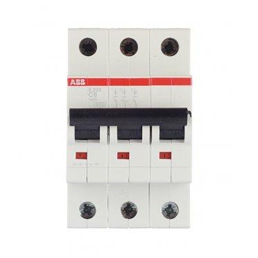 Автомат ABB S203 (2CDS253001R0064) 3P 6 А тип C 6 кА 400 В на DIN-рейку