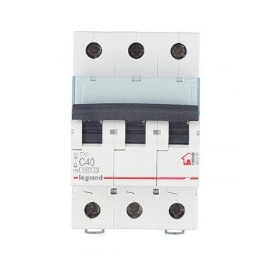 Автомат Legrand TX3 (404060) 3P 40 А тип C 6 кА 400 В на DIN-рейку