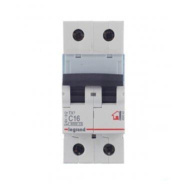 Автомат Legrand TX3 (404042) 2P 16 А тип C 6 кА 230-400 В на DIN-рейку