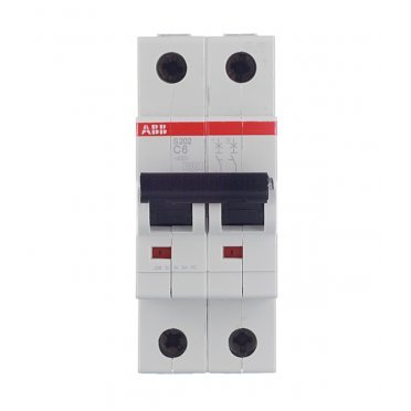 Автомат ABB S202 (2CDS252001R0064) 2P 6 А тип C 6 кА 400 В на DIN-рейку