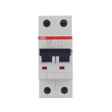 Автомат ABB S202 (2CDS252001R0104) 2P 10 А тип C 6 кА 400 В на DIN-рейку