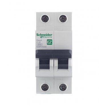 Автомат Schneider Electric Easy9 (EZ9F34225) 2P 25 А тип C 4,5 кА 400 В на DIN-рейку