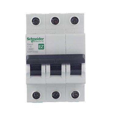 Автомат Schneider Electric Easy9 (EZ9F34332) 3P 32 А тип C 4,5 кА 400 В на DIN-рейку