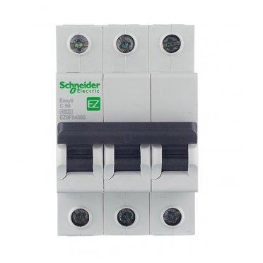 Автомат Schneider Electric Easy9 (EZ9F34350) 3P 50 А тип C 4,5 кА 400 В на DIN-рейку