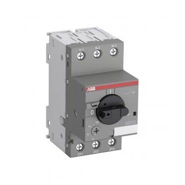 Автоматический выключатель защиты двигателя ABB MS116-1.6 (1SAM250000R1006) 3P 1,6 А 50 кА 690 В на DIN-рейку/монтажную плату