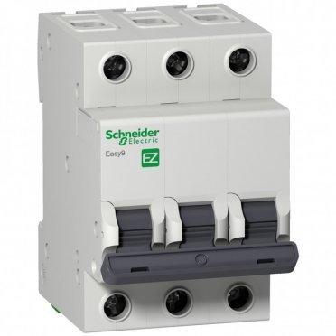 Автомат Schneider Electric Easy9 (EZ9F56350) 3P 50 А тип C 6 кА 230 В на DIN-рейку