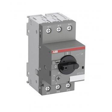 Автоматический выключатель защиты двигателя ABB MS116-4.0 (1SAM250000R1008) 3P 4 А 50 кА 690 В на DIN-рейку/монтажную плату
