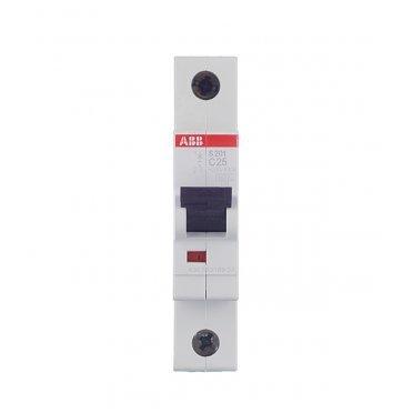 Автомат ABB S201 (2CDS251001R0254) 1P 25 А тип C 6 кА 230 В на DIN-рейку