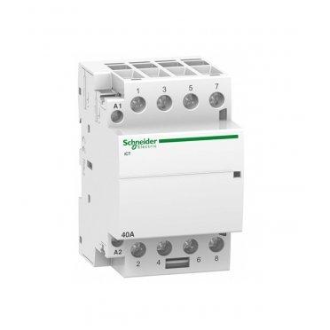 Контактор модульный Schneider Electric Acti 9 iCT (A9C20844) 220 В 40 А тип AC 4P клеммы тунельного типа