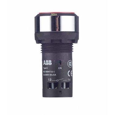 Кнопка ABB CP1-30R-11 (1SFA619100R3071) на дверцу щита красная