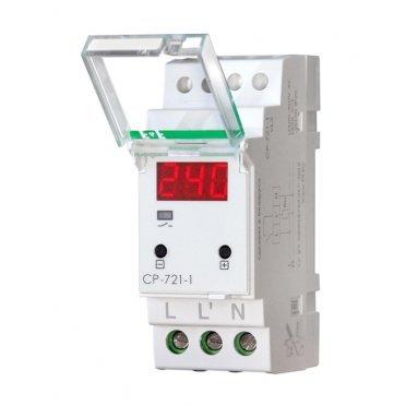 Реле напряжения модульное Евроавтоматика CP-721-1 100-450 В 63 А тип AC 1P+N