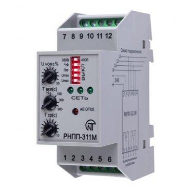 Реле напряжения модульное Новатек RNPP-311M 400 В 5 А тип AC/DС 1P+N