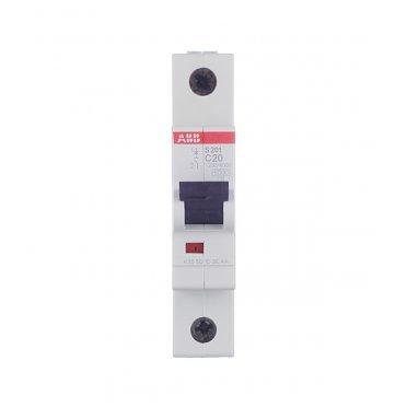 Автомат ABB S201 (2CDS251001R0204) 1P 20 А тип C 6 кА 230 В на DIN-рейку