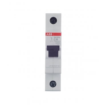 Автомат ABB SH201L (2CDS241001R0164) 1P 16 А тип C 4,5 кА 230 В на DIN-рейку