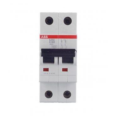 Автомат ABB S202 (2CDS252001R0504) 2P 50 А тип C 6 кА 400 В на DIN-рейку