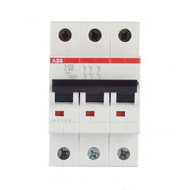 Автомат ABB S203 (2CDS253001R0404) 3P 40 А тип C 6 кА 400 В на DIN-рейку