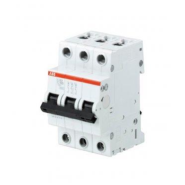 Автомат ABB S203 (2CDS253001R0824) 3P 100 А тип C 6 кА 230 В на DIN-рейку