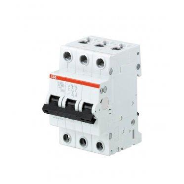 Автомат ABB S203 (2CDS253001R0804) 3P 80 А тип C 6 кА 230 В на DIN-рейку