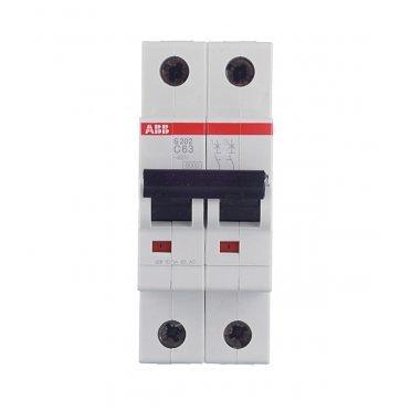 Автомат ABB S202 (2CDS252001R0634) 2P 63 А тип C 6 кА 400 В на DIN-рейку