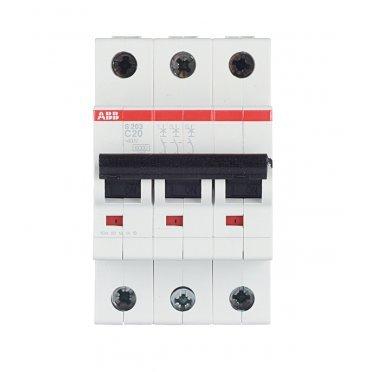 Автомат ABB S203 (2CDS253001R0204) 3P 20 А тип C 6 кА 400 В на DIN-рейку
