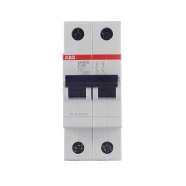 Автомат ABB SH202L (2CDS242001R0164) 2P 16 А тип C 4,5 кА 400 В на DIN-рейку