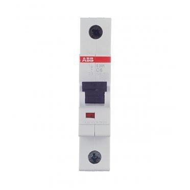 Автомат ABB S201 (2CDS251001R0064) 1P 6 А тип C 6 кА 230 В на DIN-рейку
