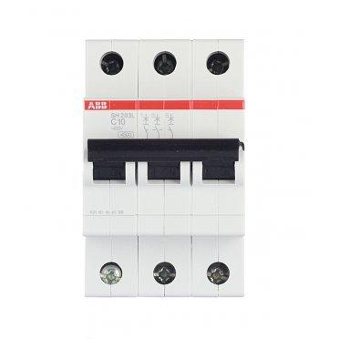 Автомат ABB SH203L (2CDS243001R0104) 3P 10 А тип C 4,5 кА 400 В на DIN-рейку