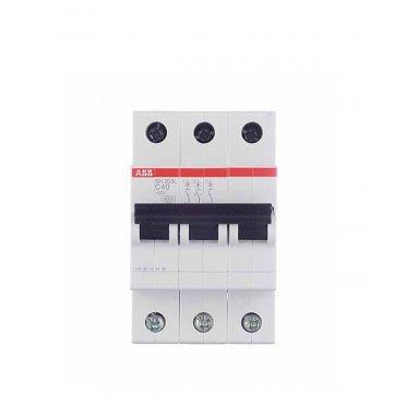 Автомат ABB SH203L (2CDS243001R0634) 3P 63 А тип C 4,5 кА 400 В на DIN-рейку