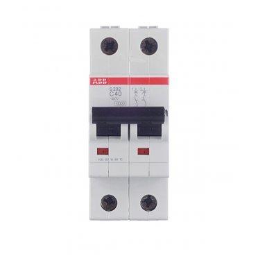 Автомат ABB S202 (2CDS252001R0404) 2P 40 А тип C 6 кА 400 В на DIN-рейку