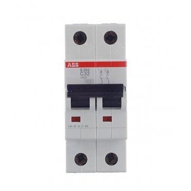 Автомат ABB S202 (2CDS252001R0324) 2P 32 А тип C 6 кА 400 В на DIN-рейку