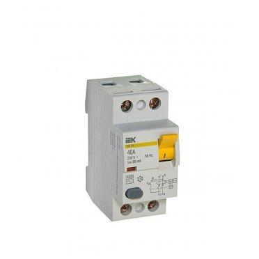 УЗО IEK ВД1-63 (MDV10-2-040-030) 40 А 30 мА 2P тип AC 4,5 кА
