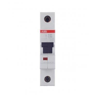 Автомат ABB S201 (2CDS251001R0504) 1P 50 А тип C 6 кА 230 В на DIN-рейку