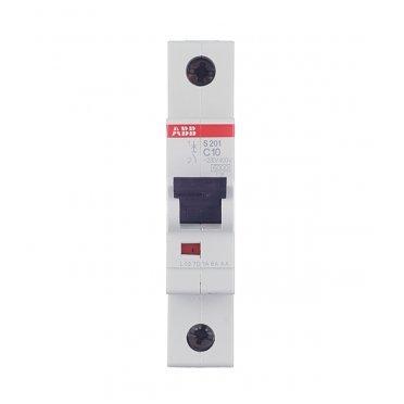 Автомат ABB S201 (2CDS251001R0104) 1P 10 А тип C 6 кА 230 В на DIN-рейку