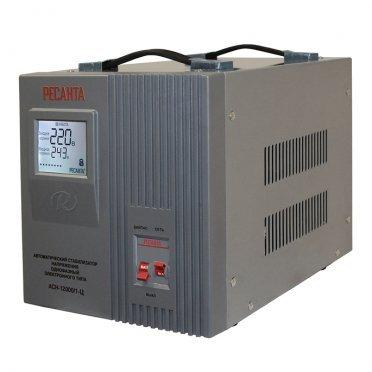 Стабилизатор напряжения Ресанта АСН-12000/1-Ц однофазный 220 В 10,00 кВА релейный переносной