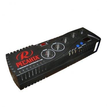 Стабилизатор напряжения Ресанта С1000 однофазный 220 В 0,83 кВА релейный переносной