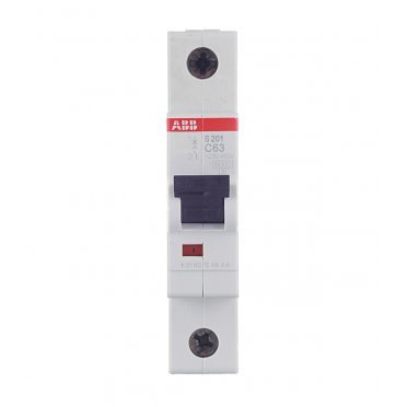 Автомат ABB S201 (2CDS251001R0634) 1P 63 А тип C 6 кА 230 В на DIN-рейку