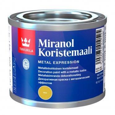 Краска декоративная Tikkurila MIRANOL золотистая полуматовая 0,1 л