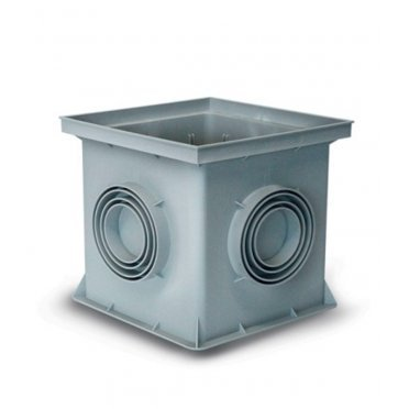 Дождеприемник REDI/Europlas (5069) 300х300х300 мм пластиковый серый
