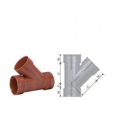 Тройник Uponor (1050298) 160/160 мм 45°