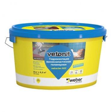Гидроизоляция Weber.vetonit Weber.tec 822 розовая 8 кг