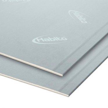 Лист стеклофибровый Gyproc Хабито 2500x1200x12,5мм высокопрочный звукоизоляционный