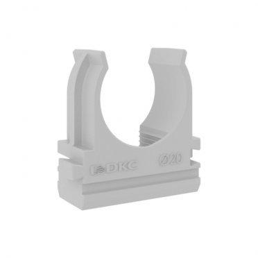 Крепеж-клипса для труб 20 мм DKC (51020M) серая (100 шт.)