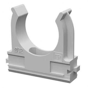 Крепеж-клипса для труб 32 мм Промрукав серая (50 шт.)