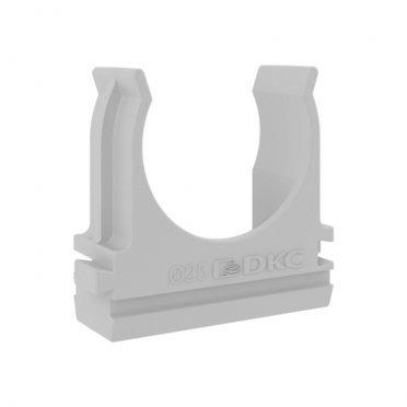 Крепеж-клипса для труб 25 мм DKC (51025) с защелкой серая (100 шт.)