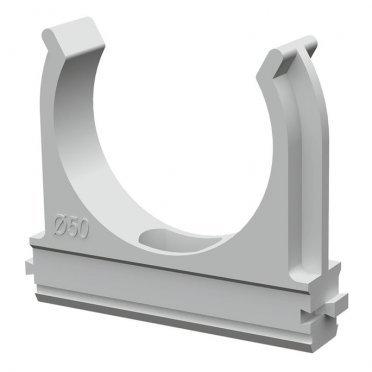 Крепеж-клипса для труб 50 мм Промрукав серая (20 шт.)